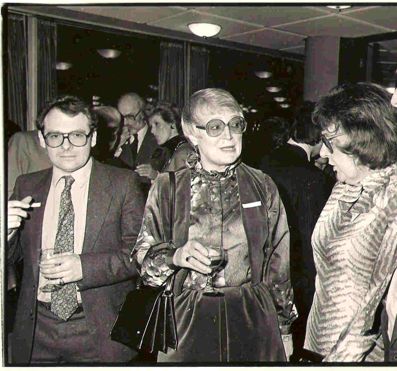 Picture of Joyce with Brigid Brophy and John Goldsmith